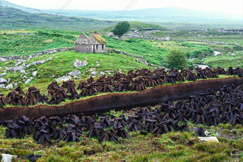 Connemara Peat harvesting