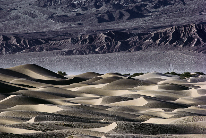 View of sand dunes in Death Valley, California