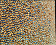 Sand dunes from space, Saudi Arabia