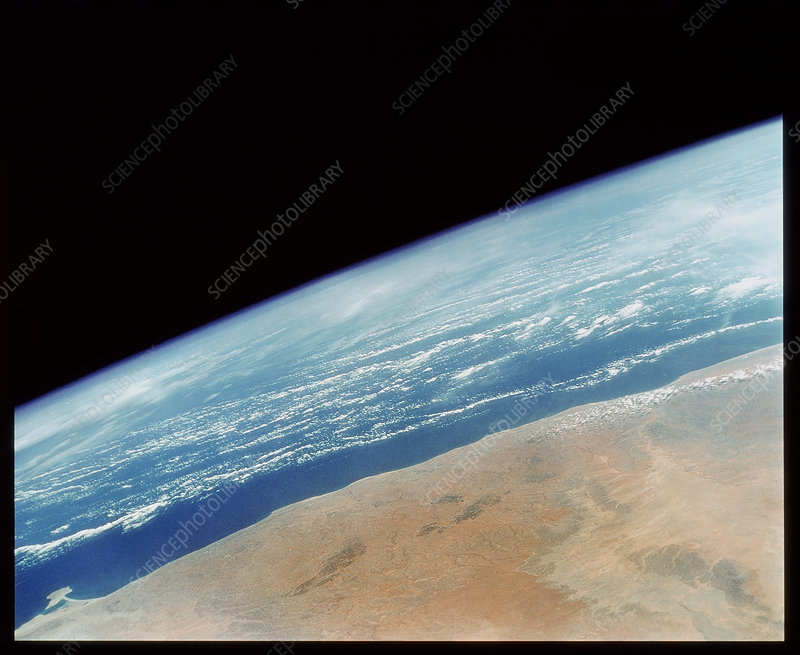 Somalia seen from Space Shuttle
