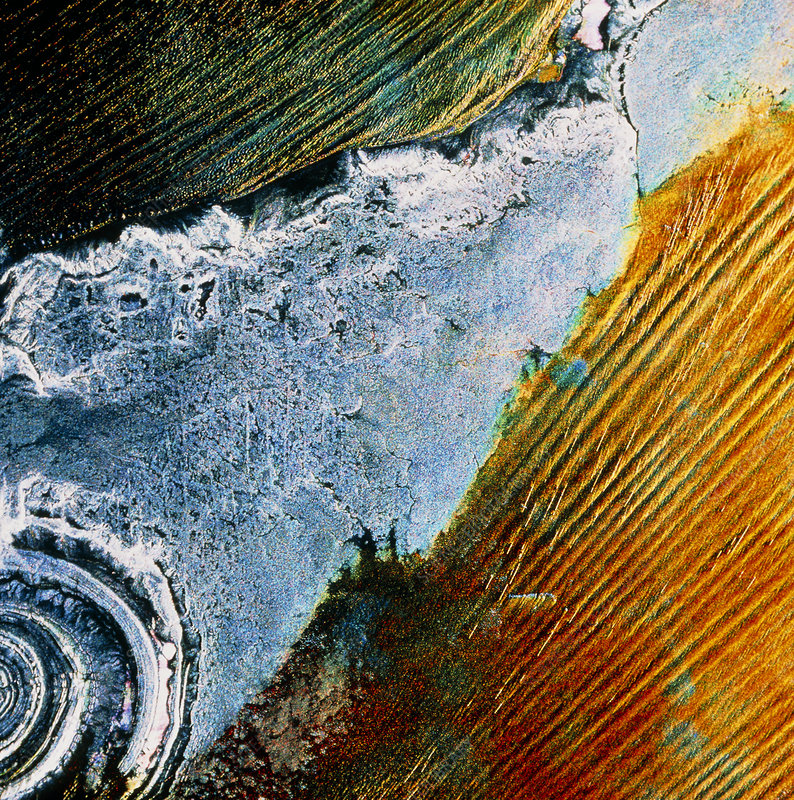 Richat Structure, Mauritania, from ERS-1