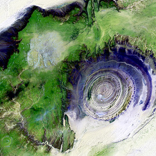 Richat Structure, satellite image