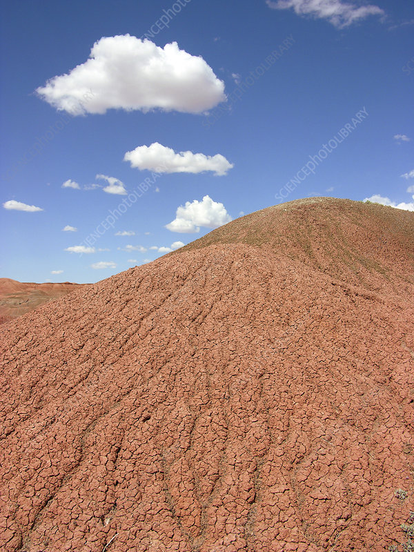Dried mud slopes
