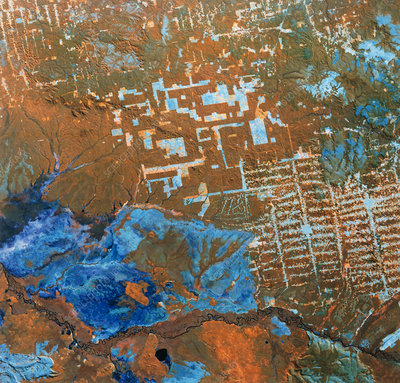 Landsat image of deforestation in Brazil