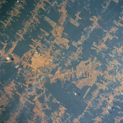 Deforestation in Brazil, seen from Shuttle STS-46