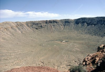 View of Meteor Crater near Flagstaff