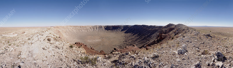 Panoramic view of Barringer meteor crater