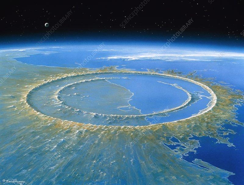 Chicxulub impact crater, Yucatan