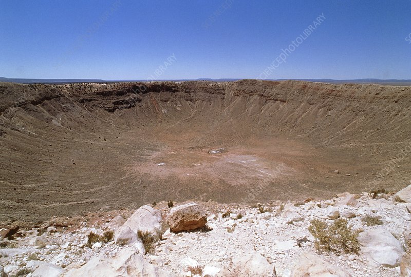 View of Barringer Crater, Arizona, USA