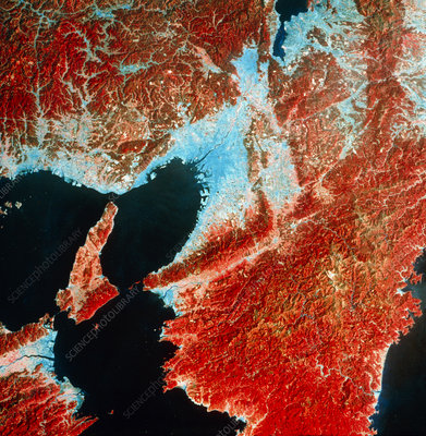 Landsat image of Osaka Bay and Osaka, Japan