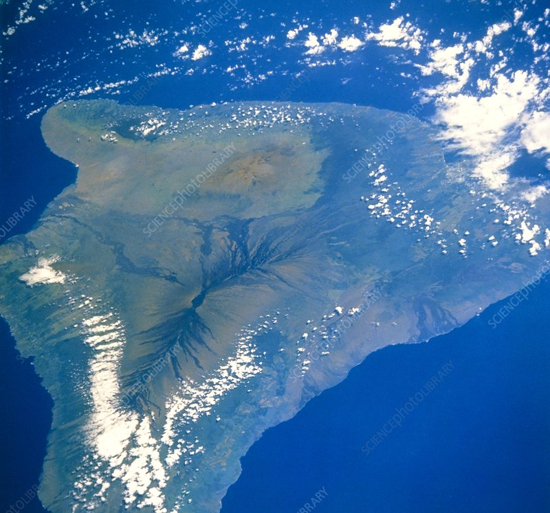 Shuttle photograph of the island of Hawaii