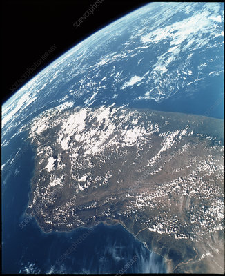 Madagascar from Space Shuttle