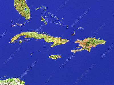 Islands in the Caribbean sea