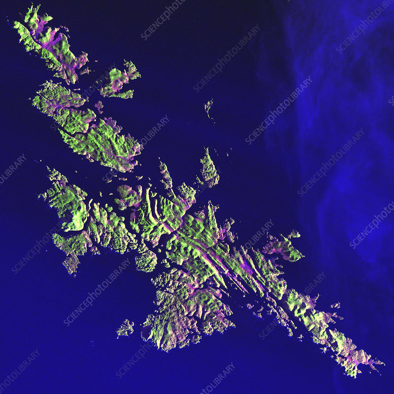 Shetland Islands, satellite image