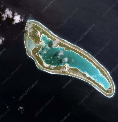 Coral atoll and lagoon