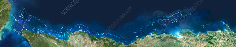 Great Barrier Reef, satellite image