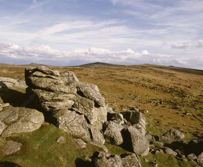 Hound Tor on Dartmoor, Devon