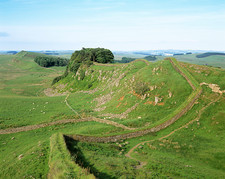 Hadrian's Wall in summer