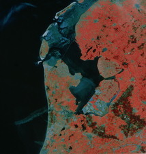 Landsat image of Amsterdam, Holland