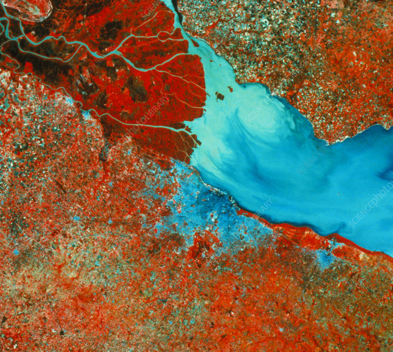 Landsat photo of City of Buenos Aires, Argentina