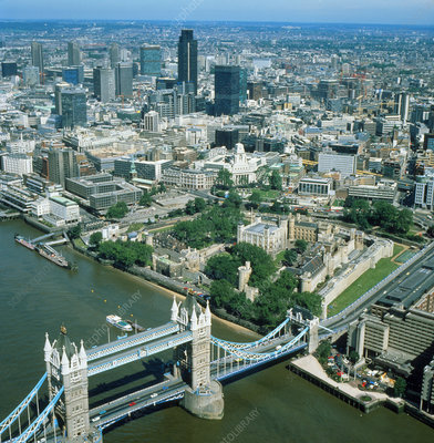 Aerial photo of the City of London