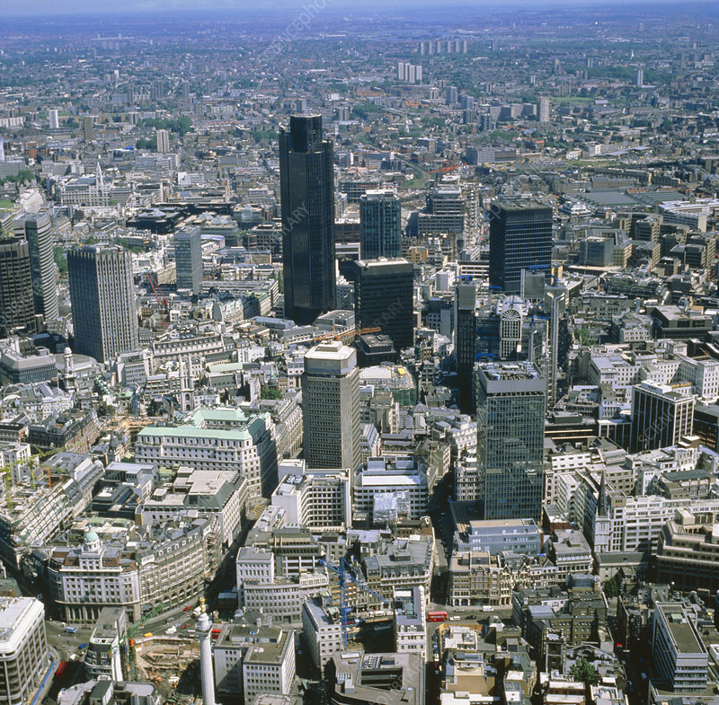 Aerial phot of the city of London