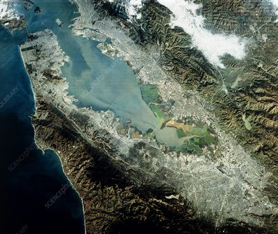 Landsat image of San Francisco Bay area