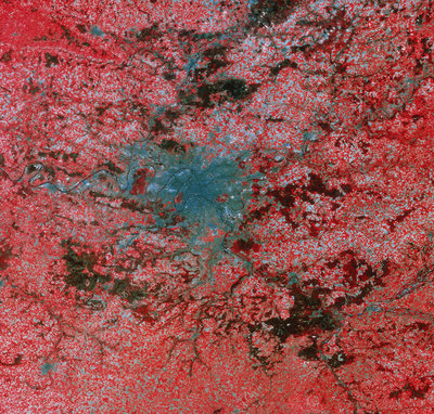 Landsat image of Paris
