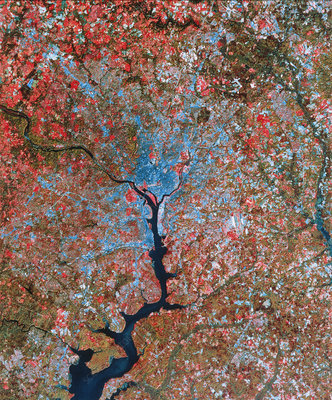 Landsat image of Washington D.C.