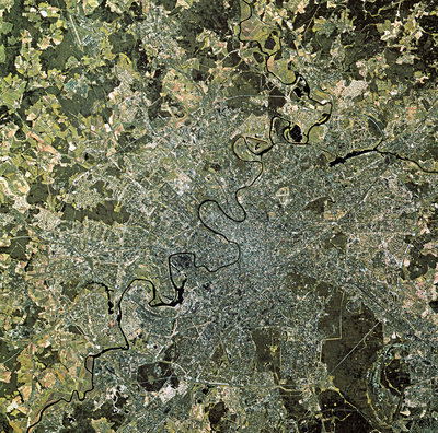 SPOT satellite image of Moscow