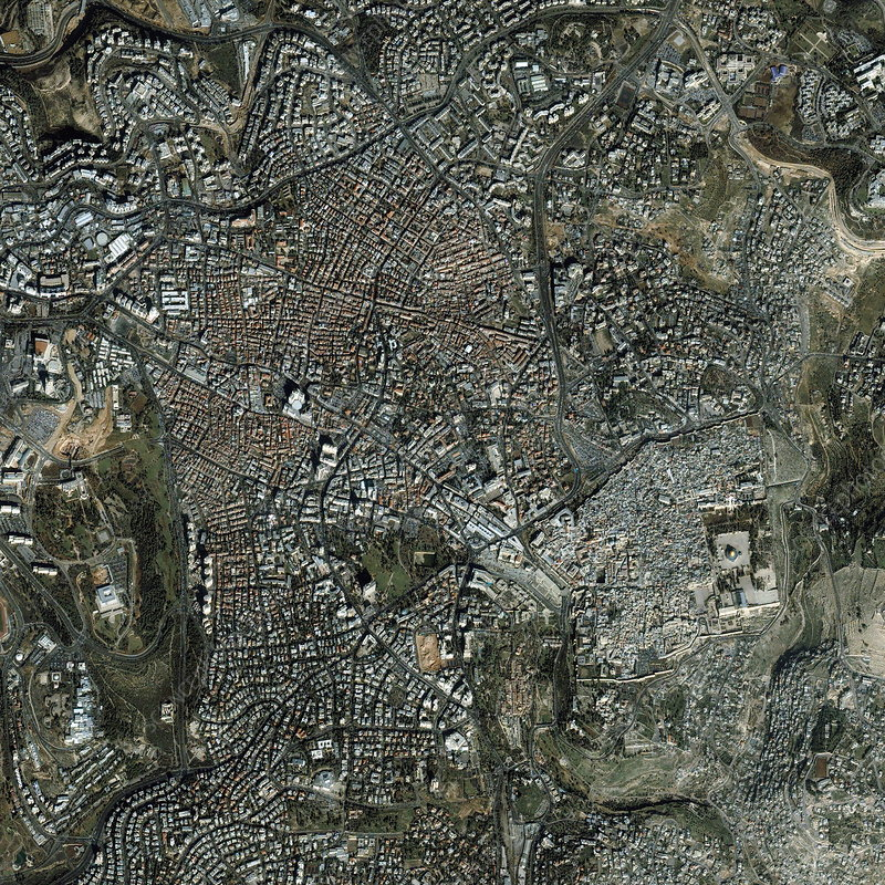 Jerusalem, satellite image