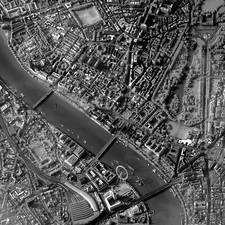 Central London, satellite view