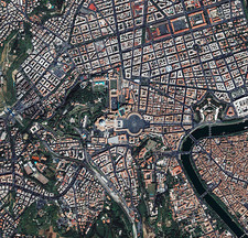 Vatican City, satellite image