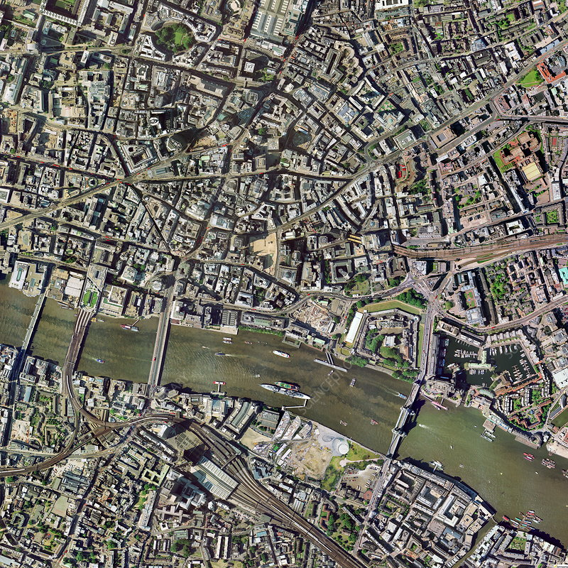 City of London, aerial image