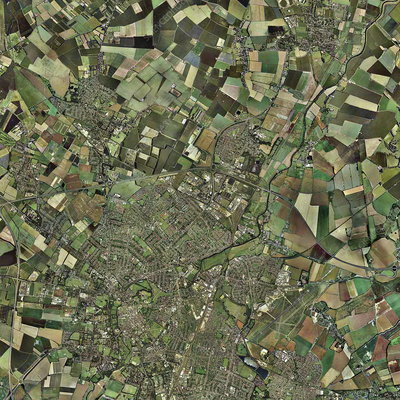 Cambridge, UK, aerial image
