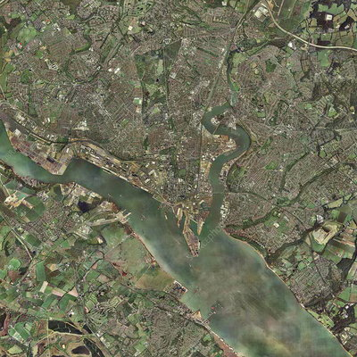 Southampton, UK, aerial photograph