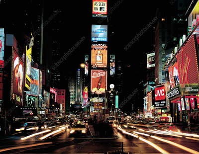 Times Square with neon lights, New York
