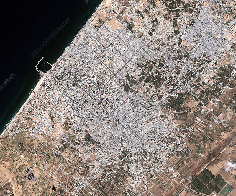 Gaza City, satellite image