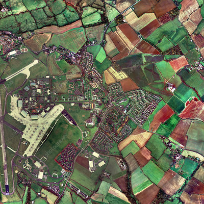 Lyneham, Wiltshire, UK, aerial photograph