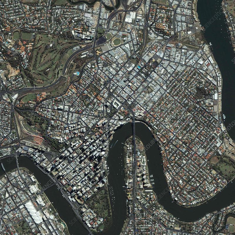 Brisbane, Australia, satellite image - Stock Image - E780/1259 - Science  Photo Library