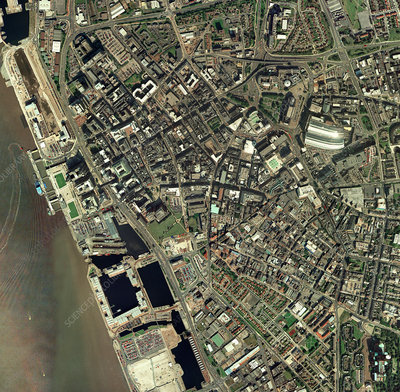 Liverpool, UK, aerial image