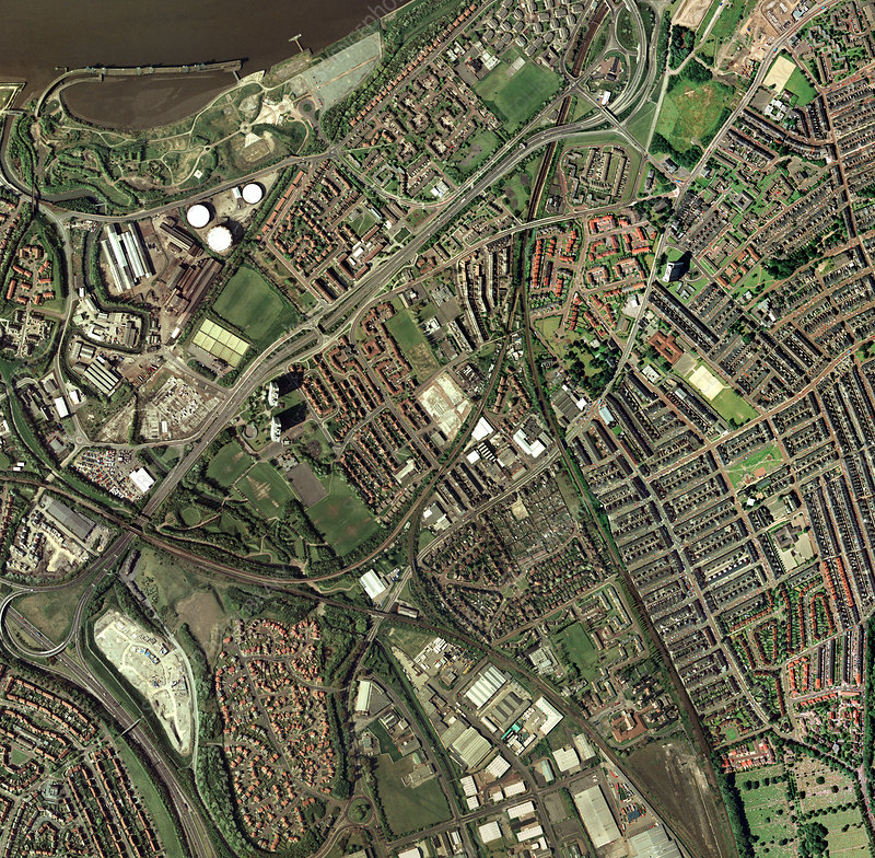 Gateshead, UK, aerial image