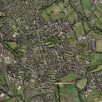 Oxford, UK, aerial image