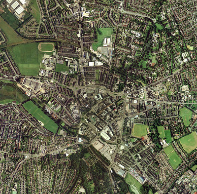 Stoke-on-Trent, UK, aerial image