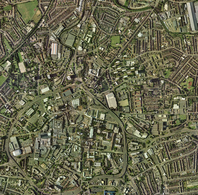 Coventry, UK, aerial image