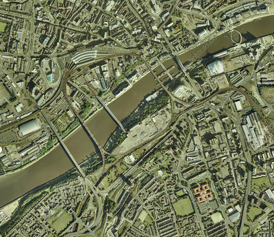 Newcastle upon Tyne, UK, aerial image
