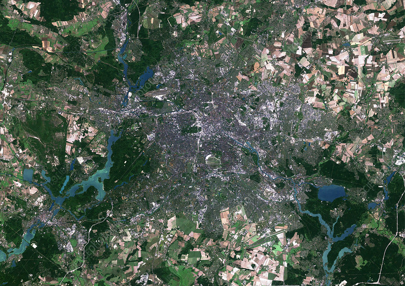Berlin, Germany, satellite image