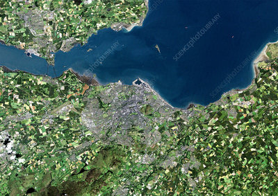 Edinburgh, Scotland, UK, satellite image