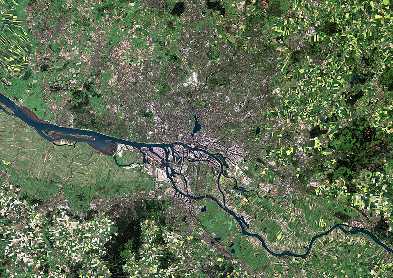 Hamburg, satellite image