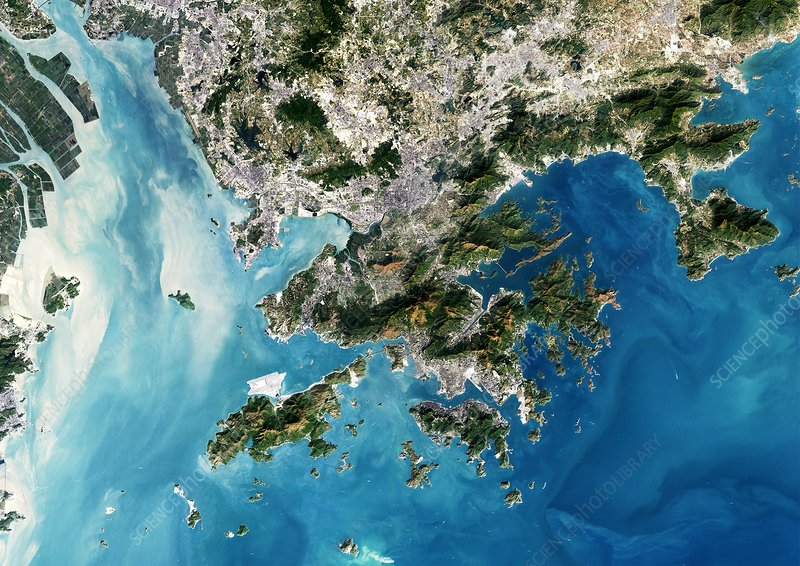 Hong Kong, satellite image
